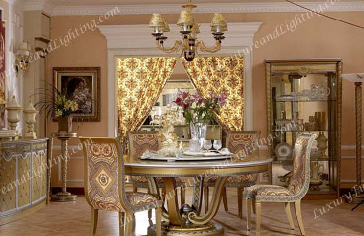 Europa Round Table Dining Room Series Luxury Furniture