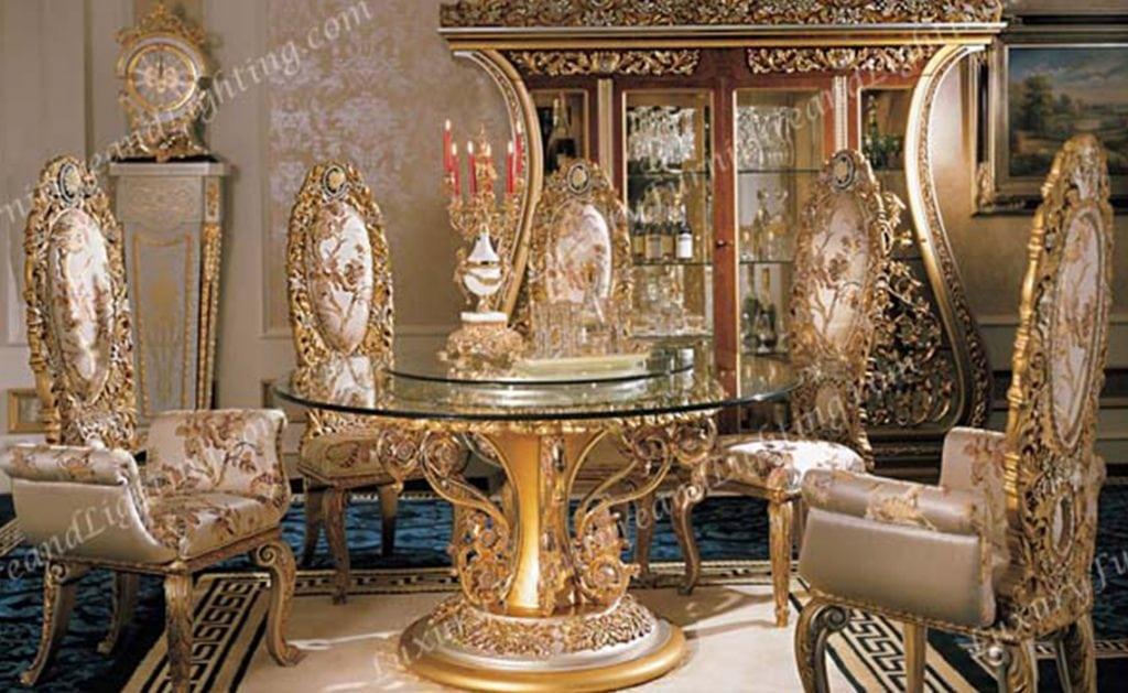 Phoebe Round Table Italian Dining Room, Italian Round Table
