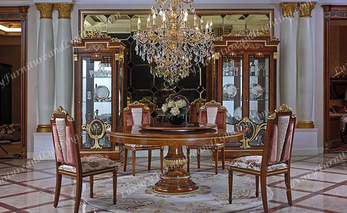 Italian Furniture Zeus Gold Round Table Italian Dining Room Furnitures
