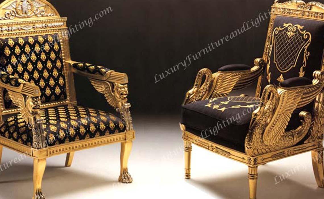 The Swan u0026 King Occasional Chair & Italian Chairs European Style Seating Italian Wing Chairs