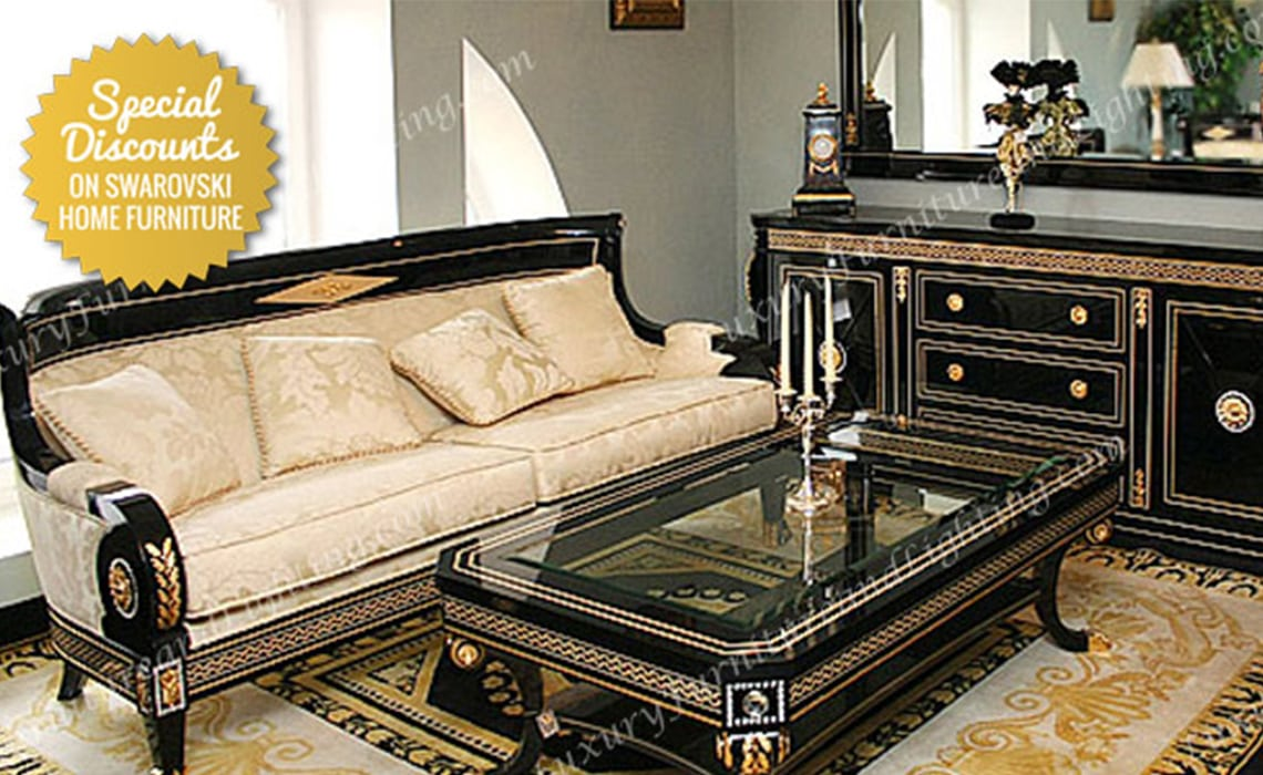 Italian Furniture - Italian Living Room Set Swarovski ...