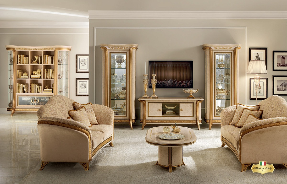 Melodia living room collection luxury furniture lighting for Arredamento salone classico