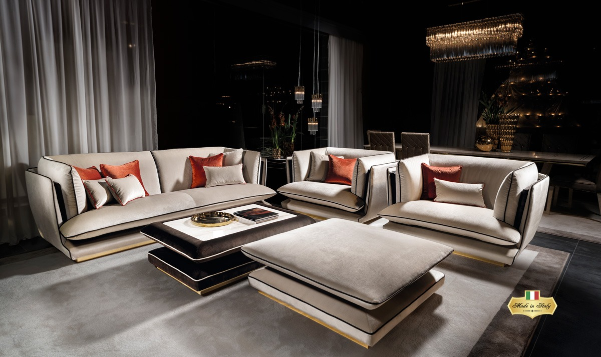 ALLURE Living Room Collection - Luxury Furniture & Lighting