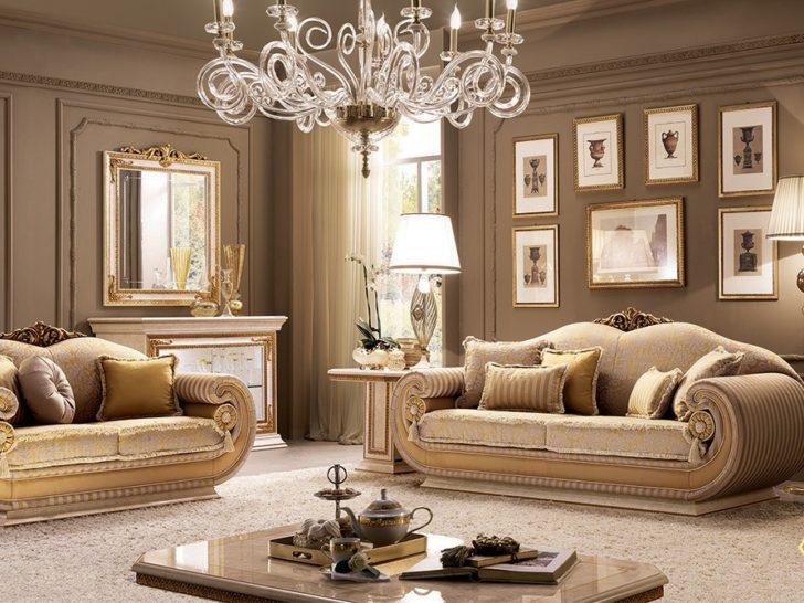 Italian Living Room Furniture, Luxury Living Room Set